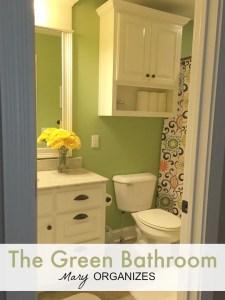 The Green Bathroom {Home Tour}