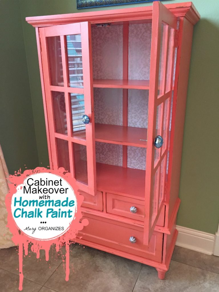 Cabinet Makeover with Homemade Chalk Paint 2