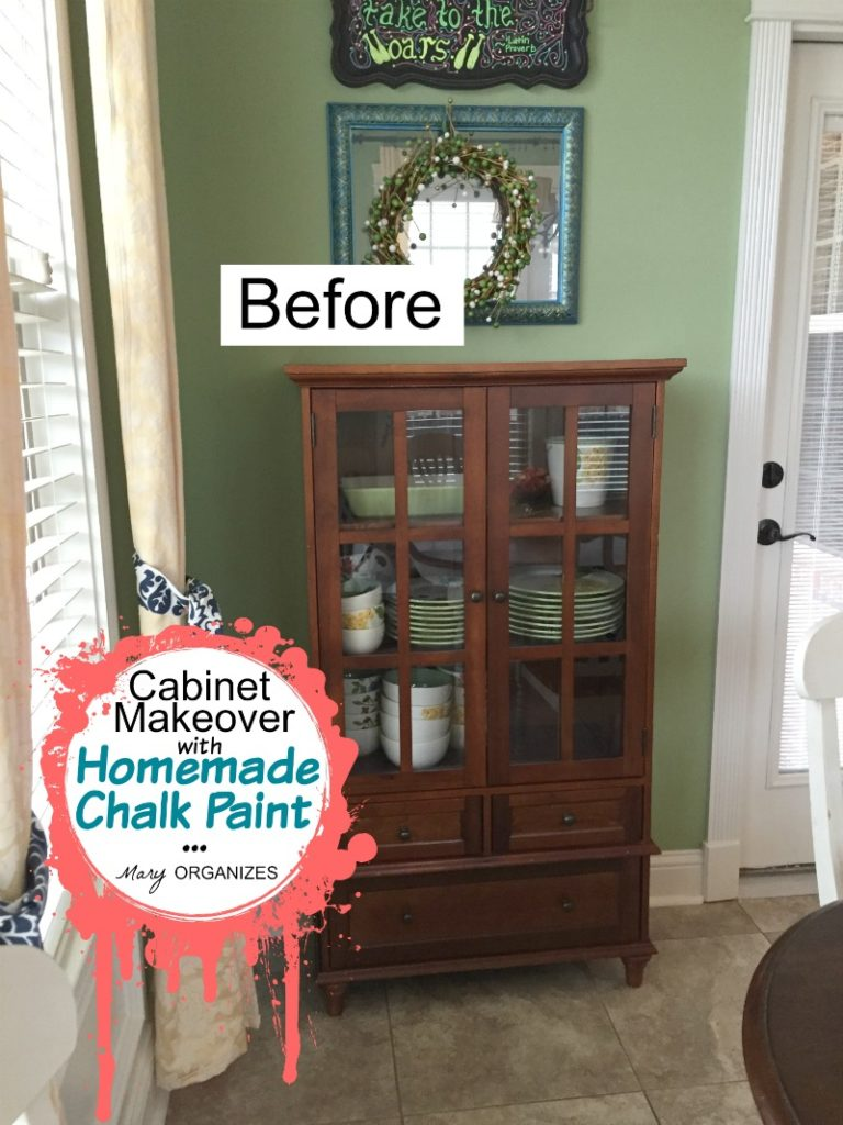 Cabinet Makeover with Homemade Chalk Paint BEFORE
