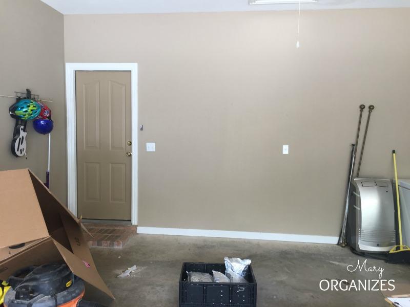 Semi-DIY Garage Mud Bench Area - Before