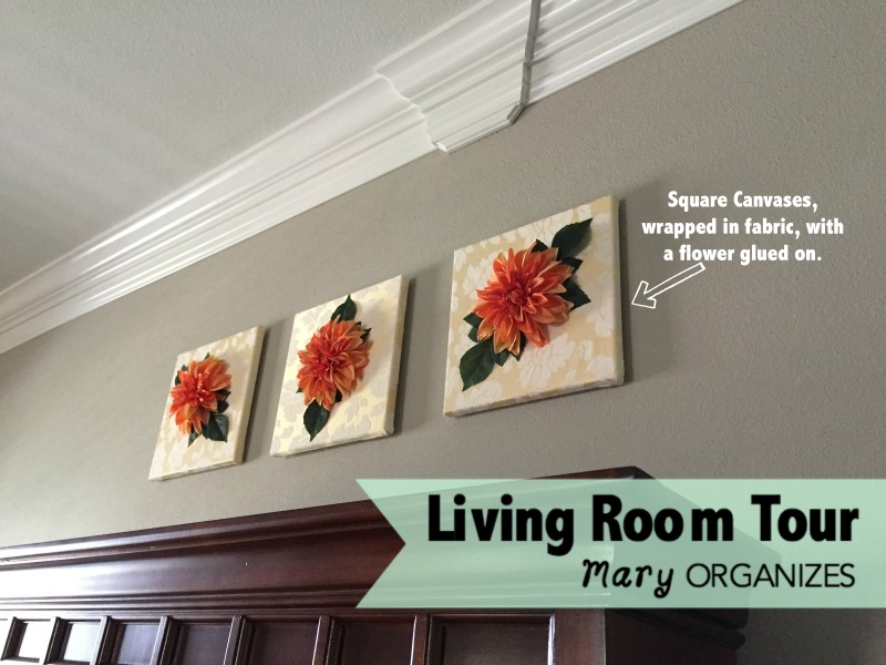 Living Room Tour - Flowers on Canvases