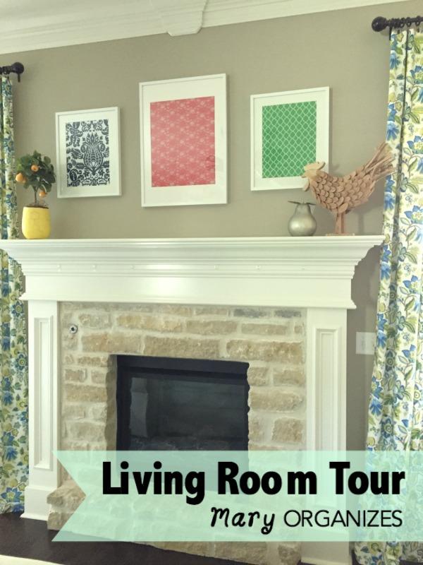 Living Room Tour - Mantel