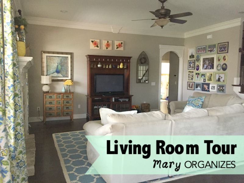 Living Room Tour - view from the kitchen