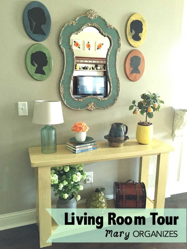 Living Room Tour - yellow table