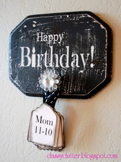 ClassyClutter - Birthday Wall Board