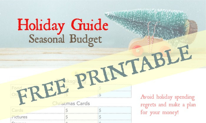 Holiday Guide - Seasonal Budget FREE Printable