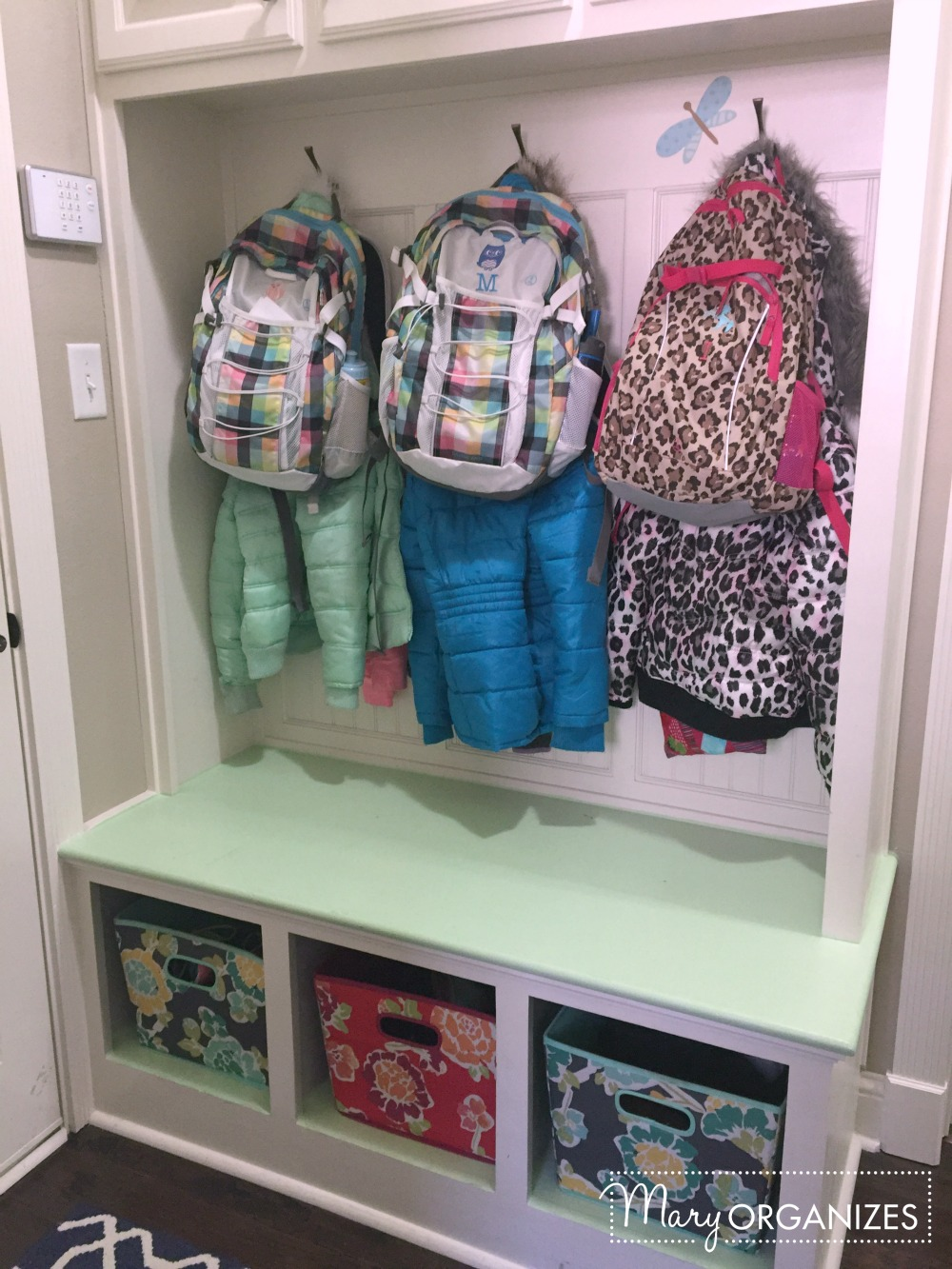 Mary Organizes - Coat and backpack hooks