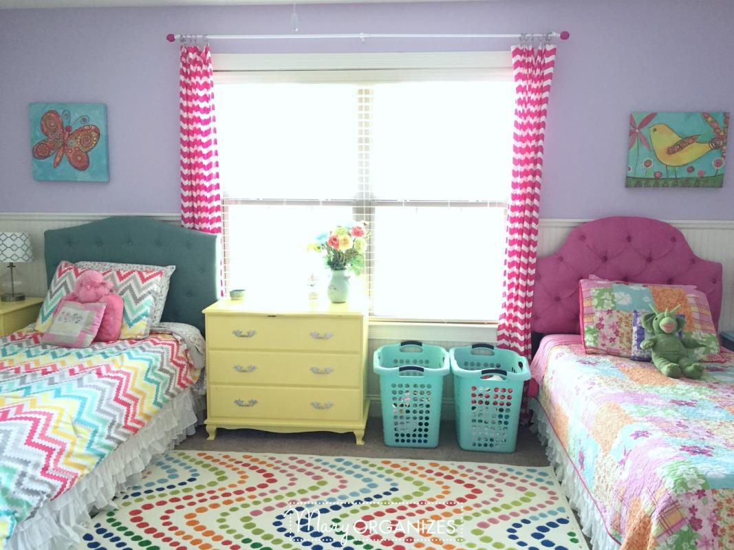 3 Girls Shared Bedroom Tour Creatingmaryshome Com