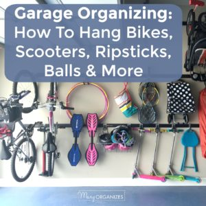 Garage Organizing - How to hang bikes scooters ripsticks balls and more -s