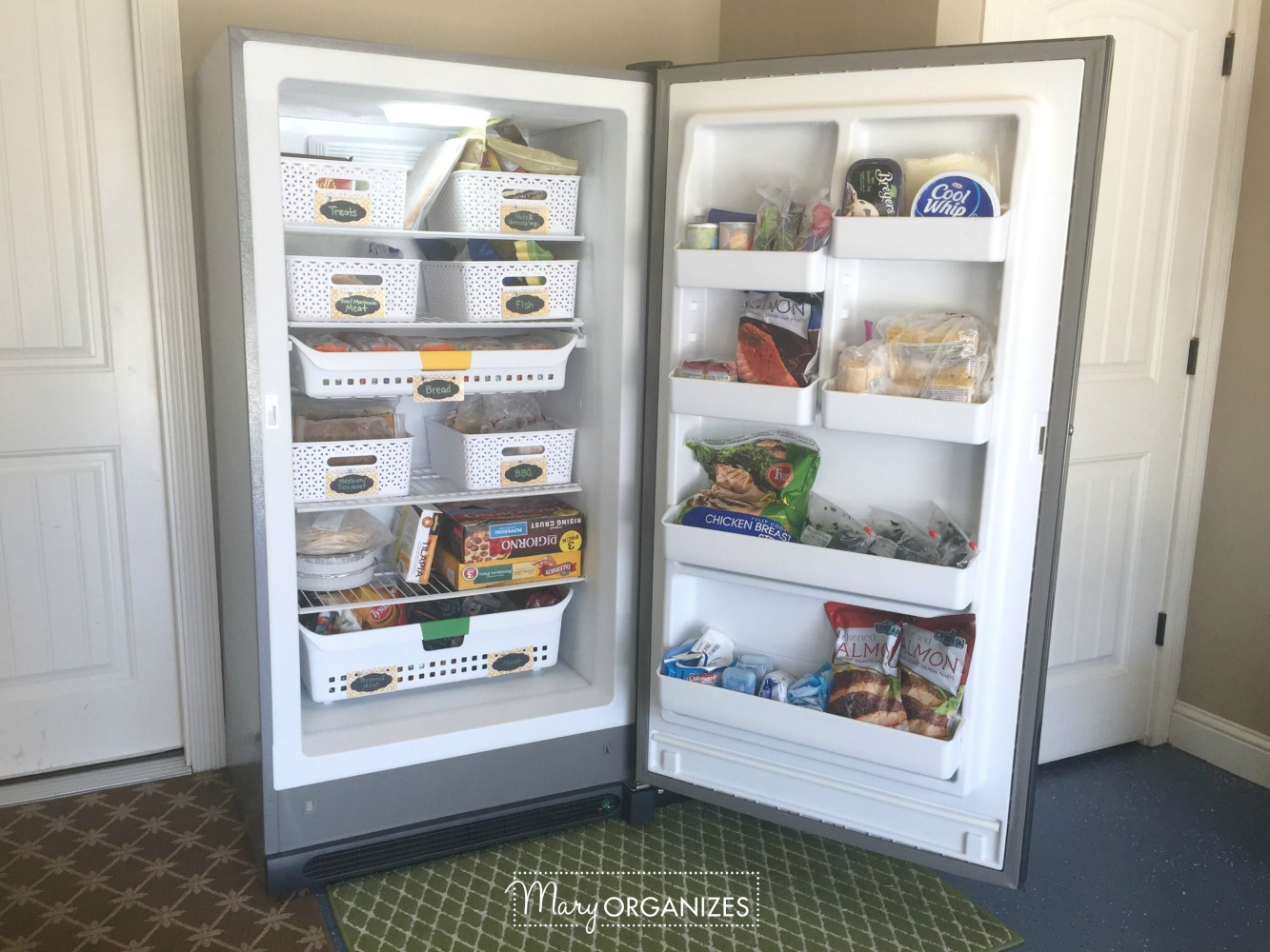 How To Organize A Stand Up Freezer In The Garage