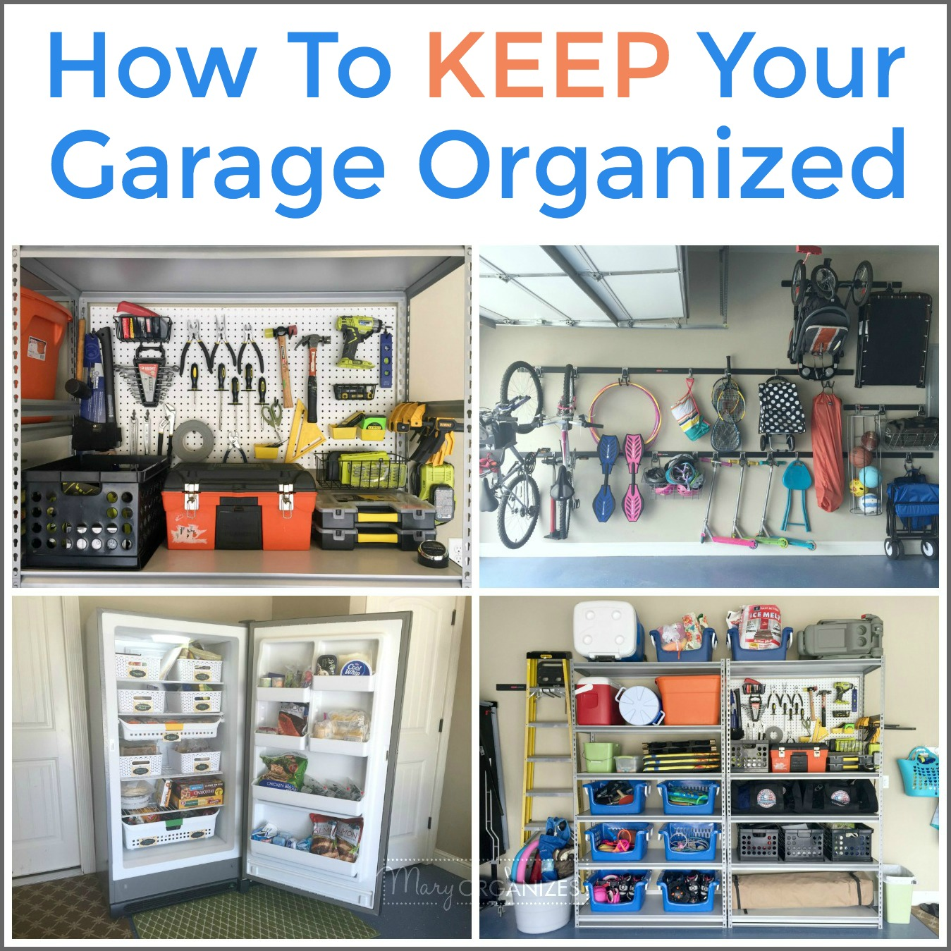 Organize your garage one week all about the garage for How to stay organized at home