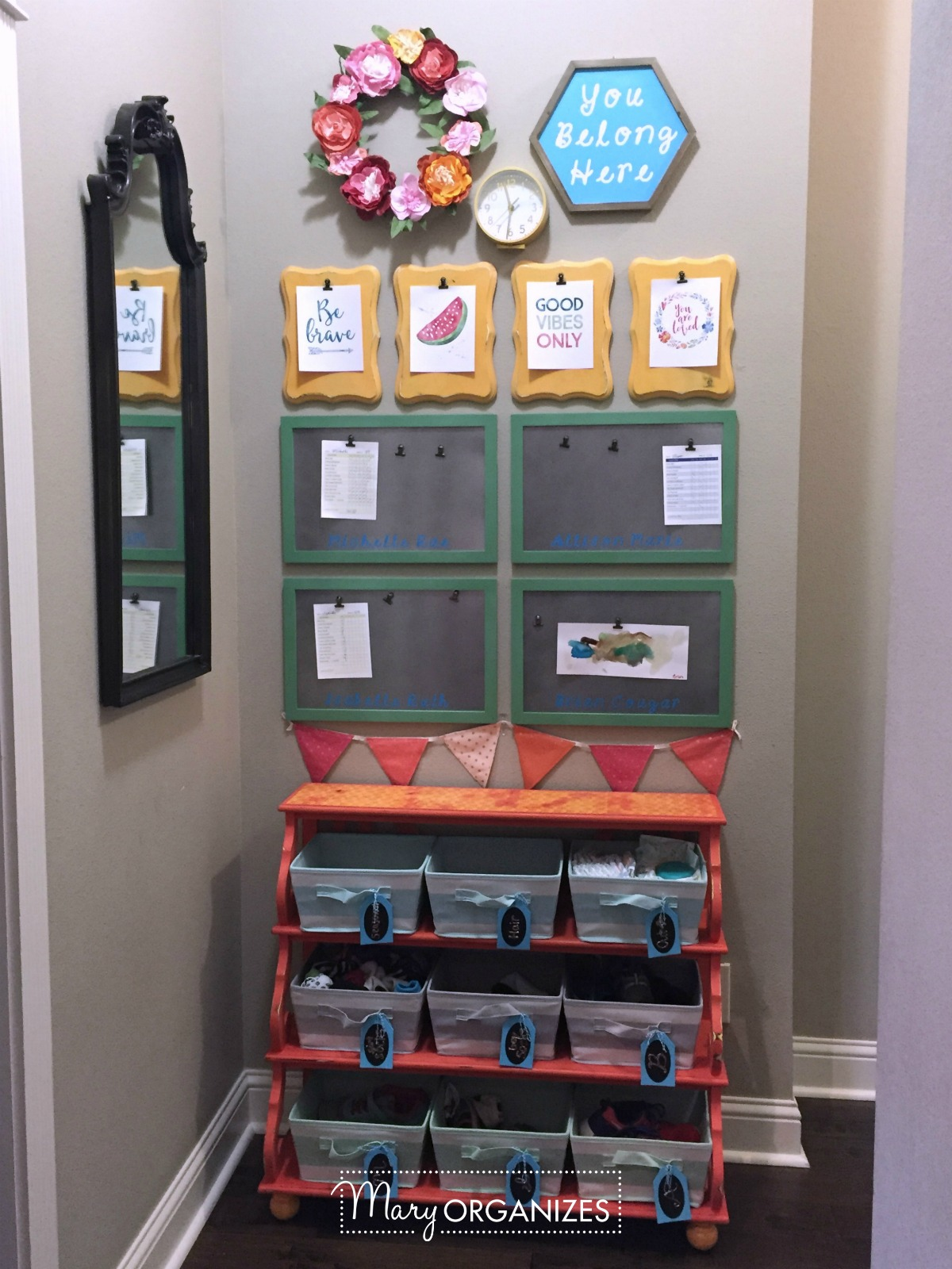 Kids Command Center - for hanging chore lists and more 11