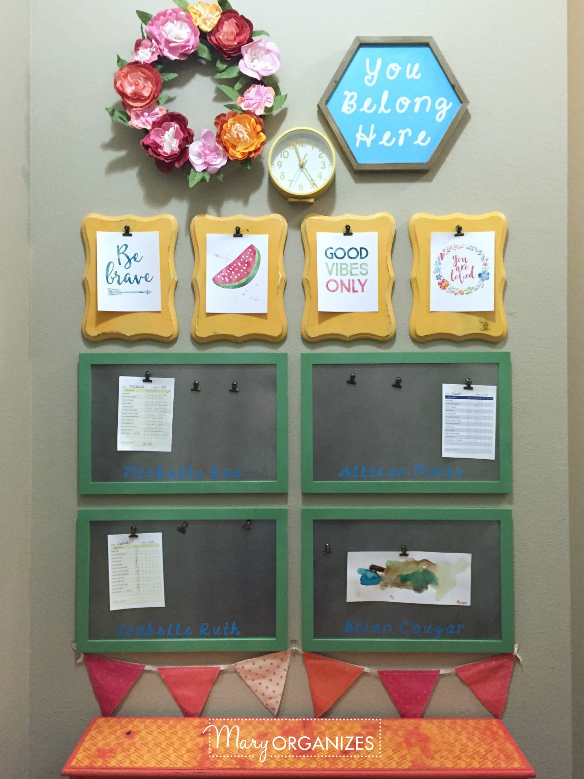 Kids Command Center - for hanging chore lists and more 2