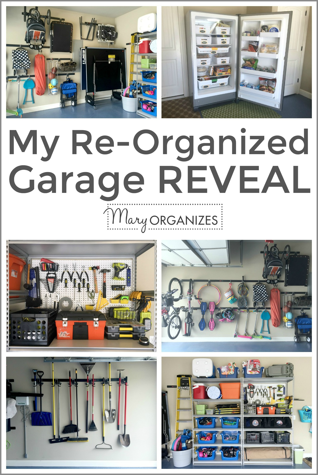 My Re-Organized Garage Reveal -v