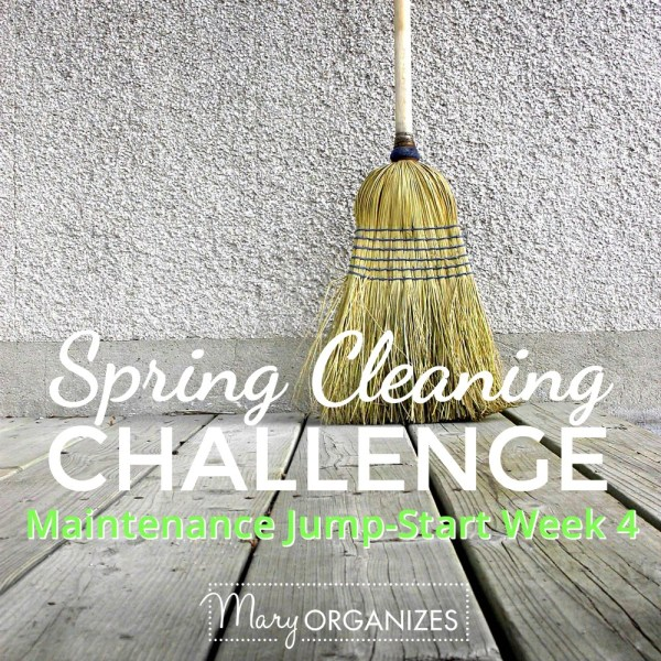 Week #4: Maintenance Jump-Start {Spring Cleaning Challenge 2016}