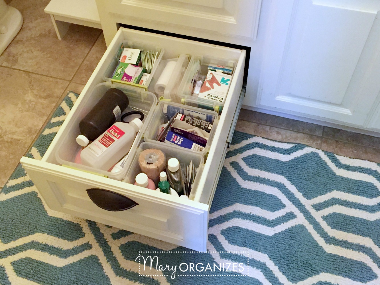 Organizing First Aid Supplies - This is what I do - Mary ORGANIZES 2