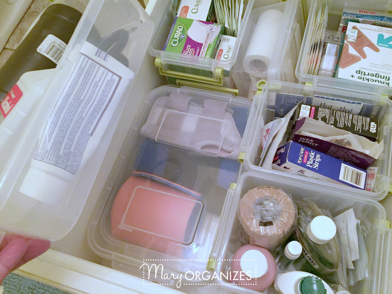 Organizing First Aid Supplies - This is what I do - Mary ORGANIZES 5