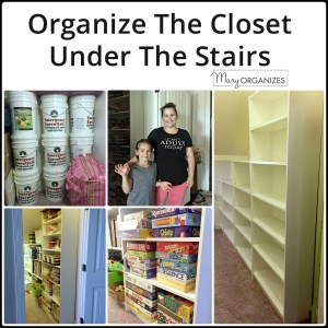 Organize The Closet Under The Stairs {Update}