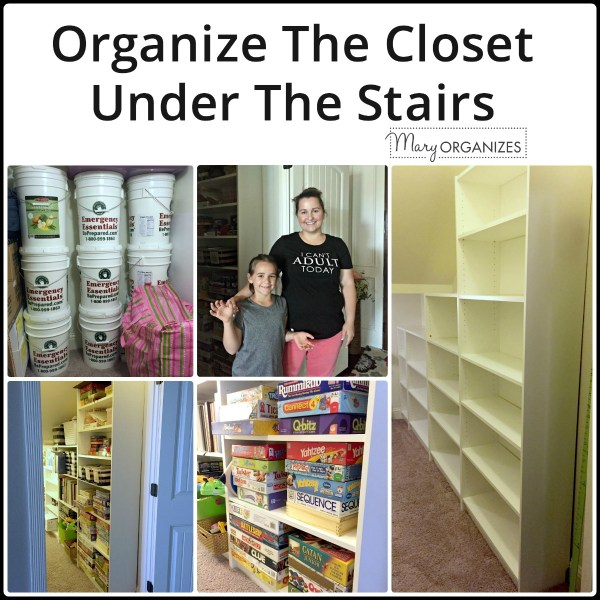 Organizing The Closet Under The Stairs