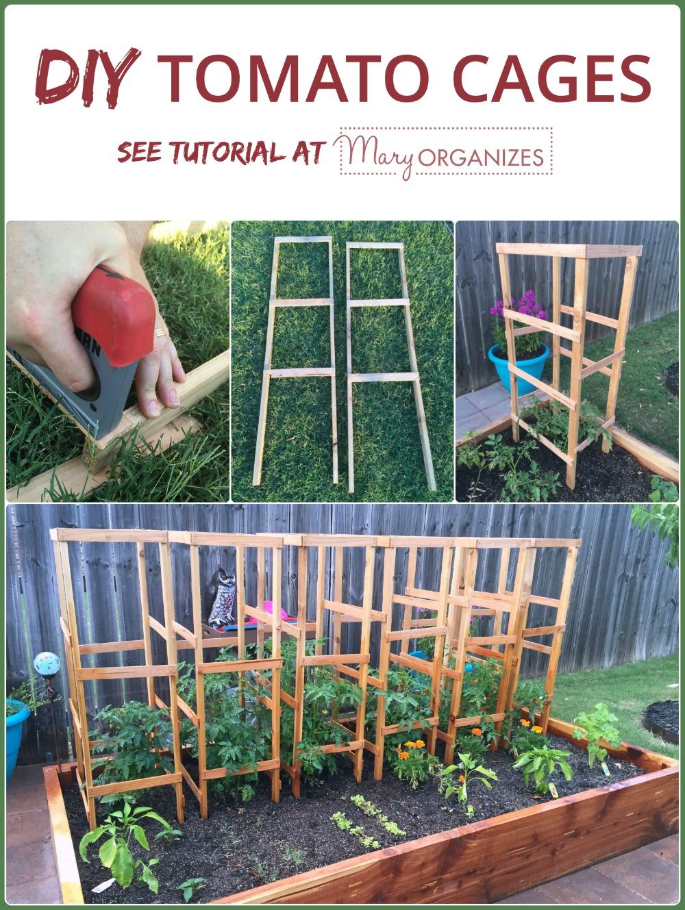 DIY Tomato Cage Tutorial Garden Tips creatingmaryshomecom