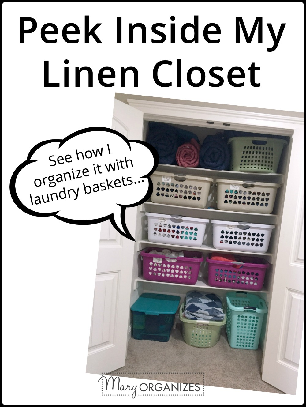 Peek Inside My Linen Closet Update -v