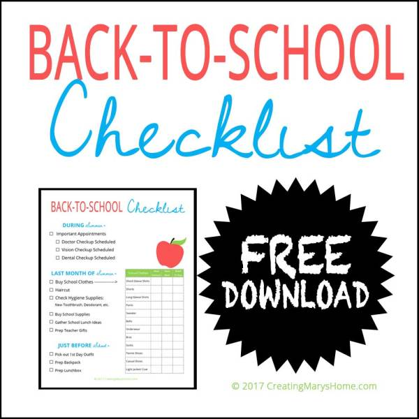 Back To School Prep Checklist {FREE PRINTABLE}