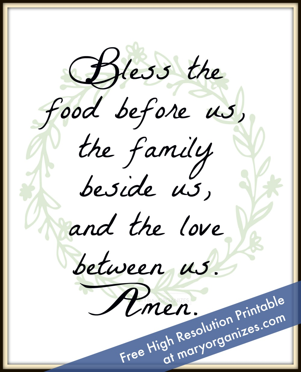 photo about Bless the Food Before Us Printable called Kitchen area 7 days - Take pleasure in Property Difficulty -