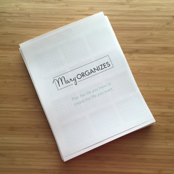 How To Use The Mary ORGANIZES Planner