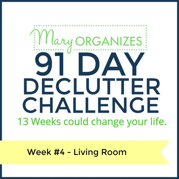 Week 4 – Living Room {91 Day Declutter Challenge}