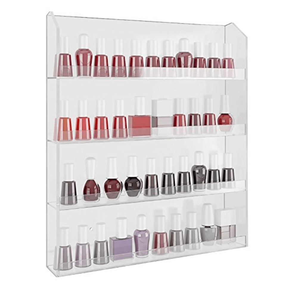 Acrylic Shelf Organizer for Nail Polish and Essential Oils