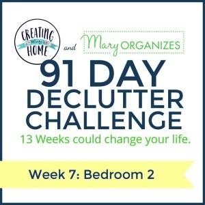 Week 7 – Bedroom #2 {91 Day Declutter Challenge}