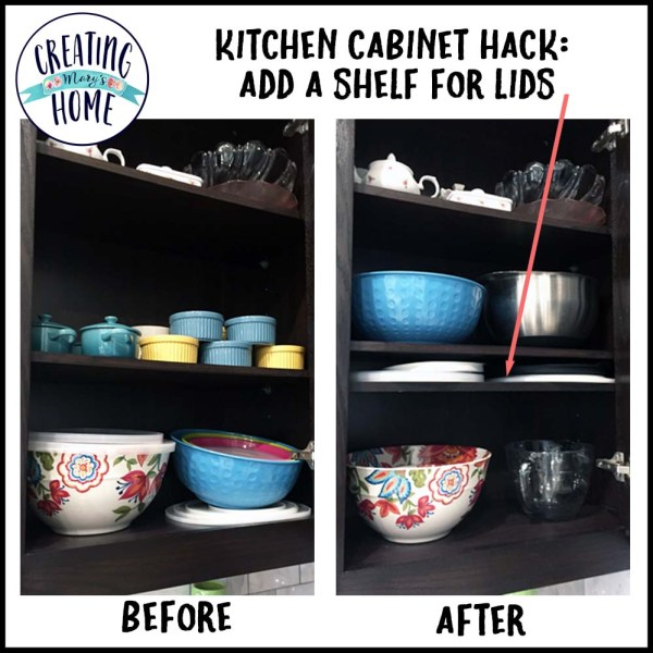 Kitchen Shelf Hack – Create More Storage Space!