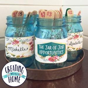 The Jar of Job Opportunities  {Money Jar}