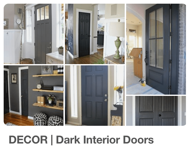 (Checkout my Pinterest Board Decor | Dark Interior Doors) & White Trim Dark Paint -u003e Why Iu0027m Going Dark With My Doors ...