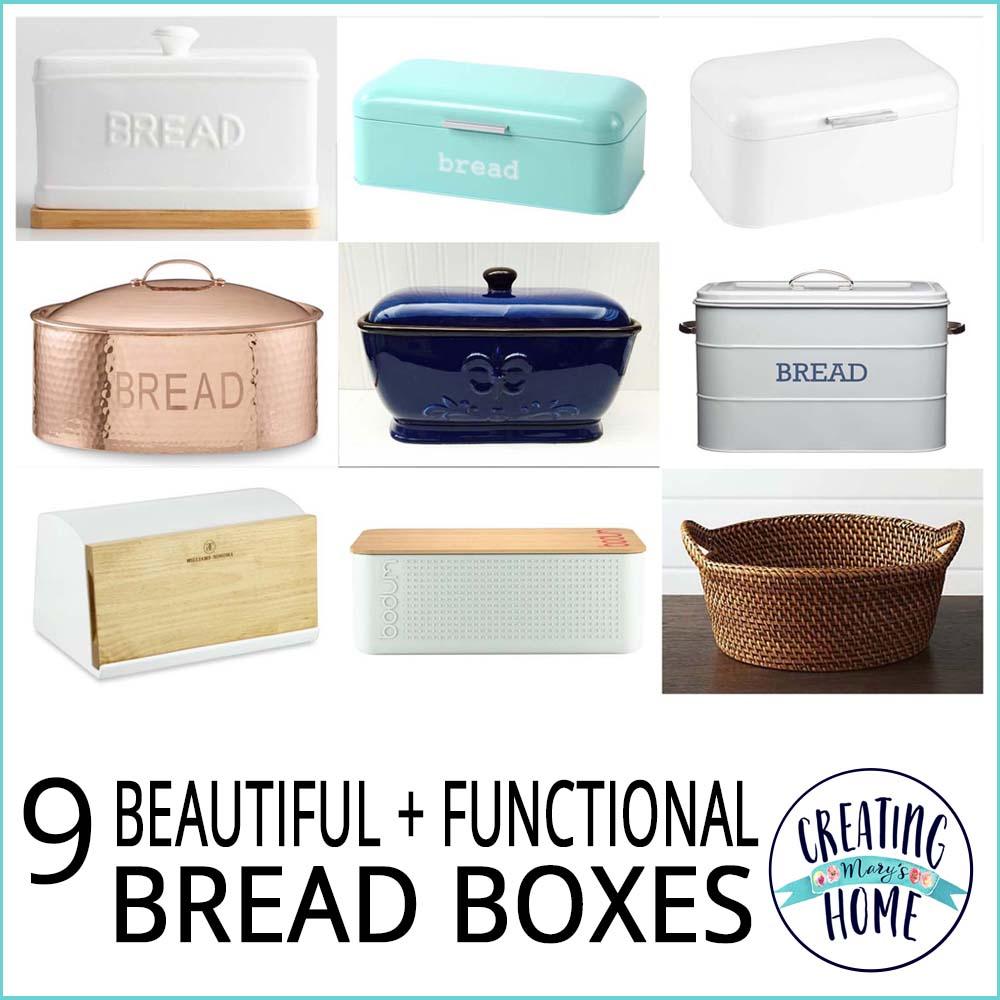 9 Beautiful Functional Bread Boxes creatingmaryshomecom