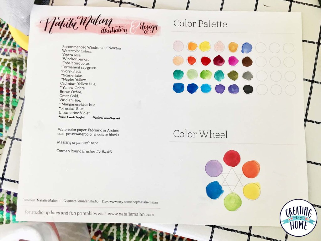 i kept this paper from the class and used the color wheel to teach my kids about blending colors today - Color Painting For Kids