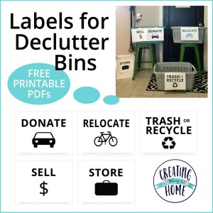 Labels for Declutter Bins