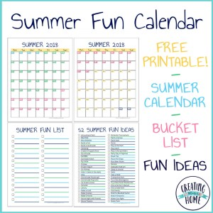 Summer Fun: Calendar, Bucket List & Ideas