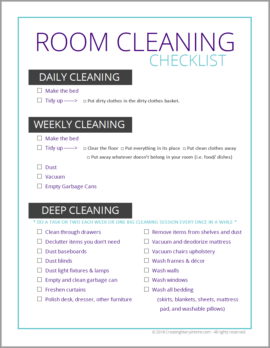 graphic about Spring Cleaning Checklist Printable called House Cleansing Record (for tweens adolescents
