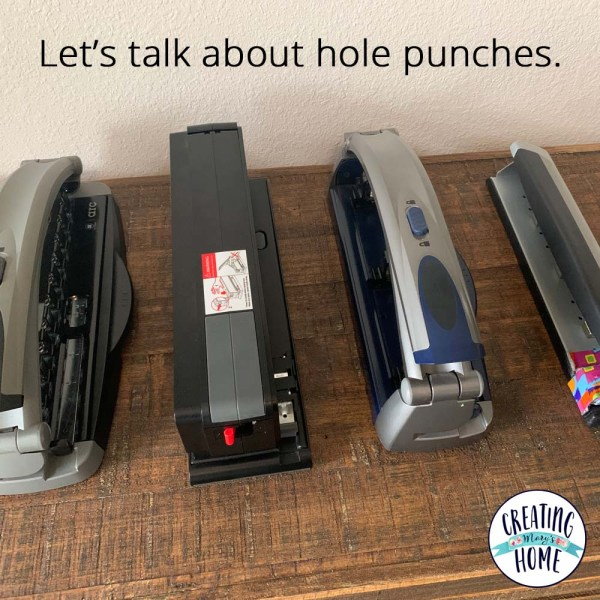 Let's talk hole punches.