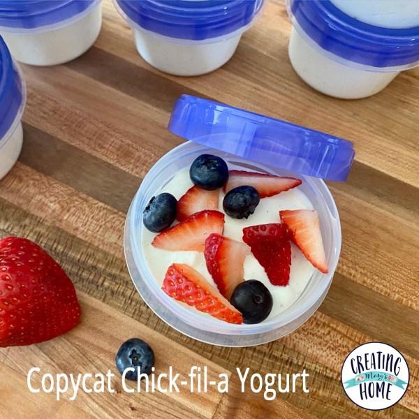 Copycat Chick-fil-a Yogurt
