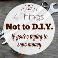 4 Things Not to D.I.Y. If You're Trying to Save Money