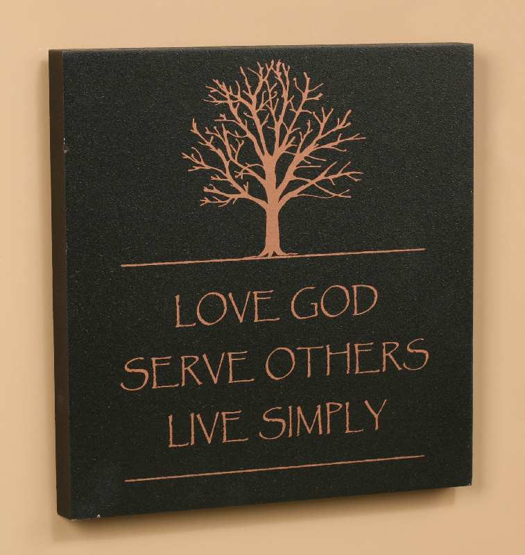 LOVE GOD, SERVE OTHERS, LIVE SIMPLY – Creating Peace