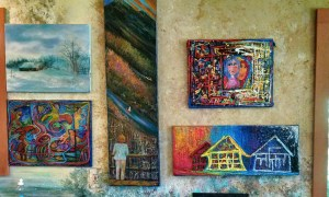 art fills every wall of my home