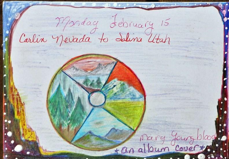 I drew an album cover of a native flute album.