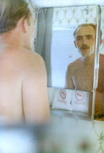 Bruce looked in the mirror, shaving off the feel of war.