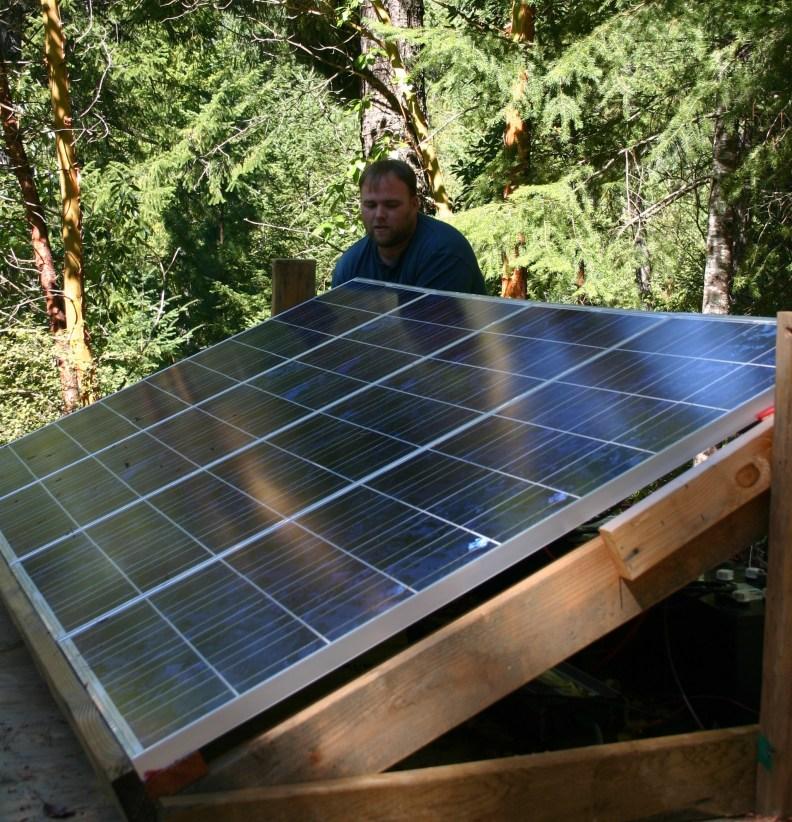 installing the solar panels