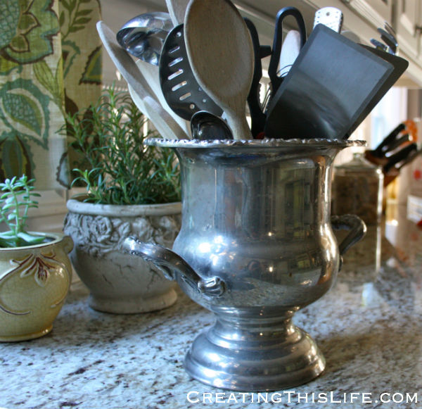 Easy Silver Polishing Before at CreatingThisLife.com