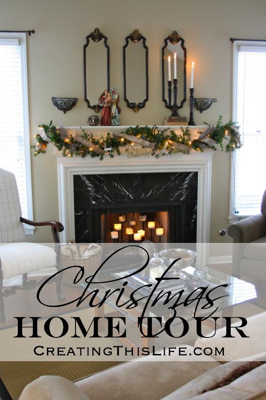 Christmas Home Tour at CreatingThisLife.com