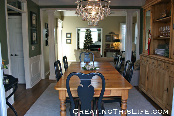 dining room living room piano room